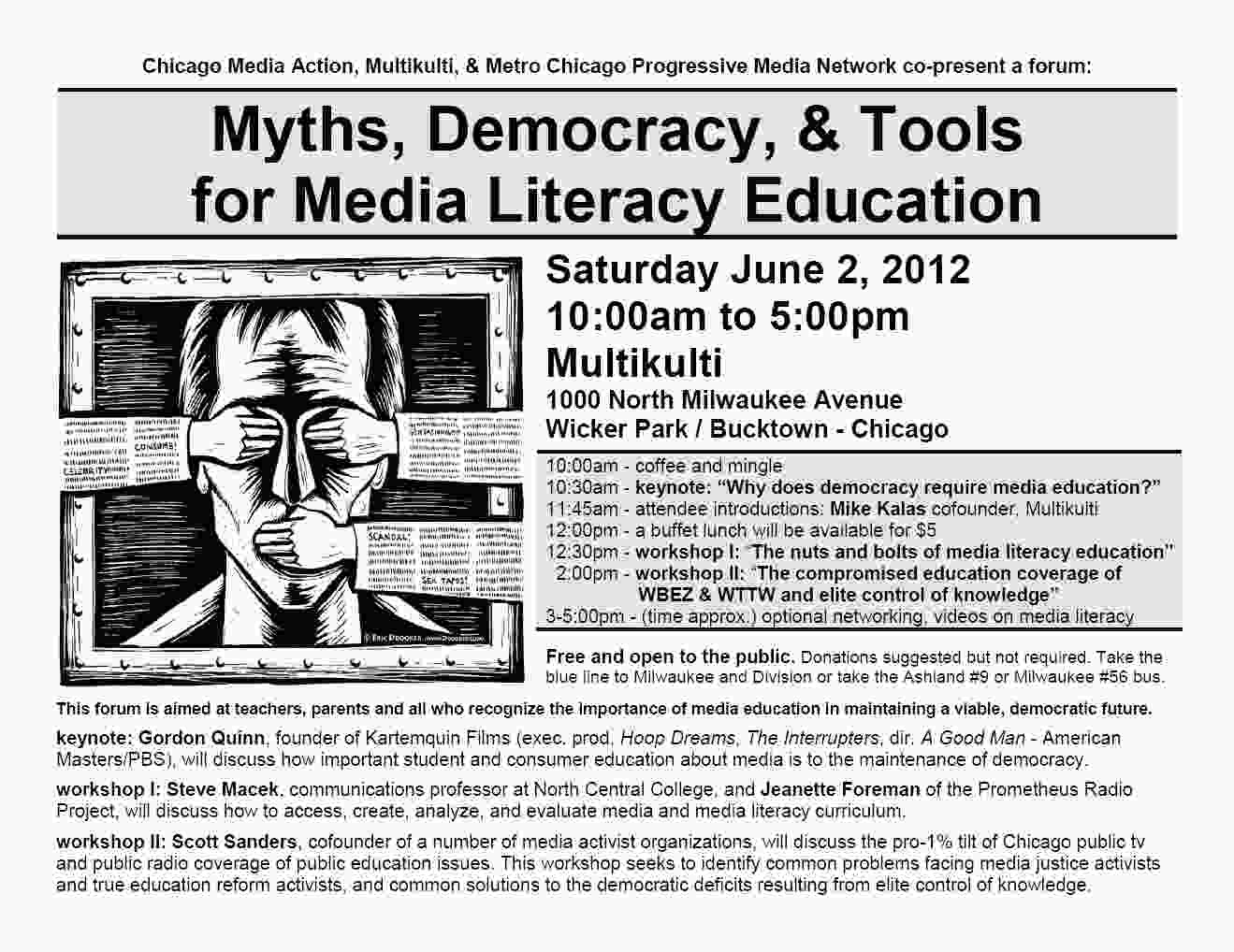Flyer/poster for June 2, 2012 CPMN, CMA, Multikulti media conference [Click for .pdf format].